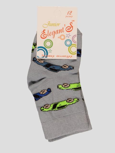 Шкарпетки сірі з малюнком ELEGANTS 4237007