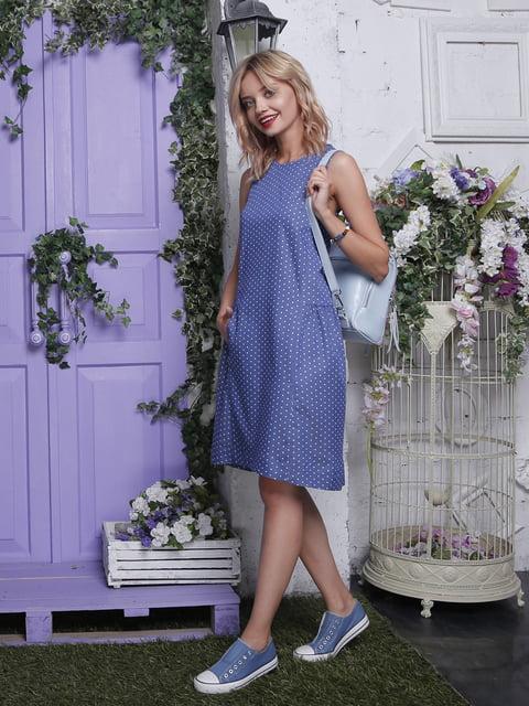 Платье синее в горошек Jet 4429056