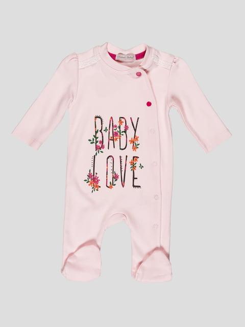 Чоловічок рожевий з принтом Nanon Baby 4413011