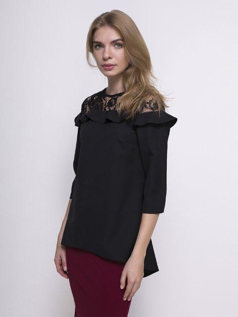 Блуза чорна Zubrytskaya 4427550