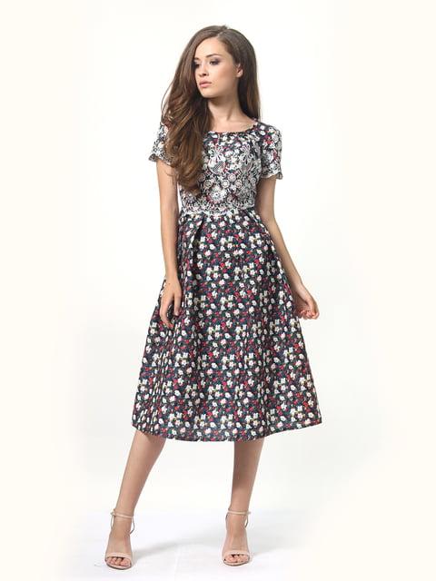 Платье темно-синее в цветочный принт AGATA WEBERS 4418795