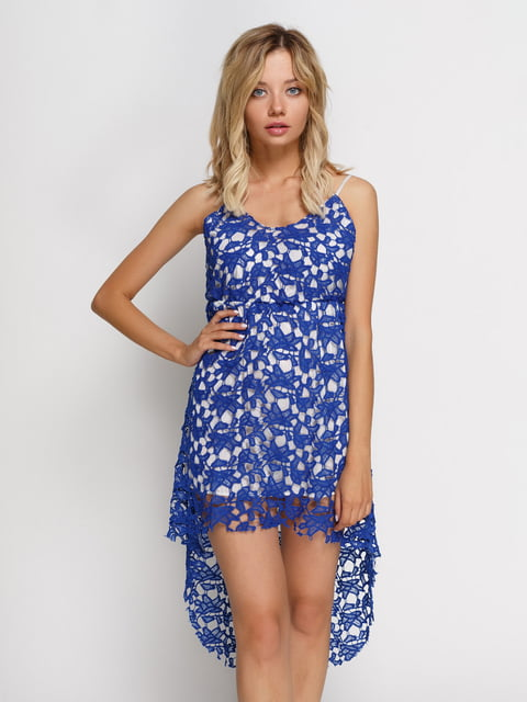 Сукня синя на білій підкладці Maxidress 4166868