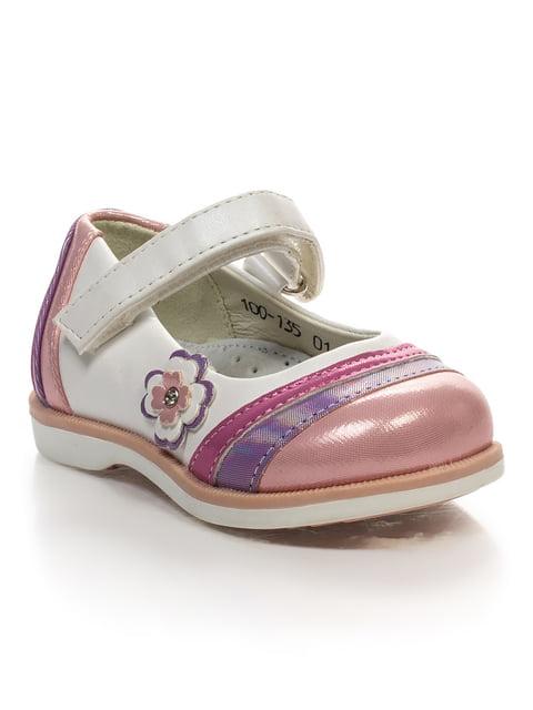 Туфли бело-розовые Шалунишка 4409334