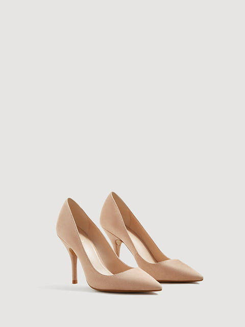 Туфли светло-бежевые Mango 4454048
