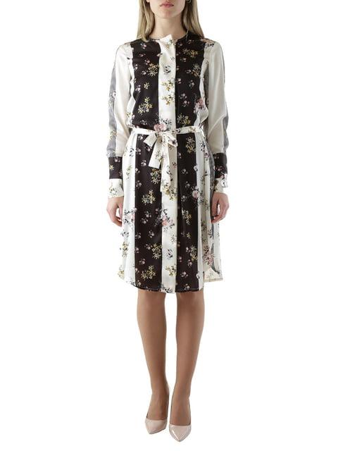 Сукня чорно-біла в квітковий принт Olivia Hops 4454542