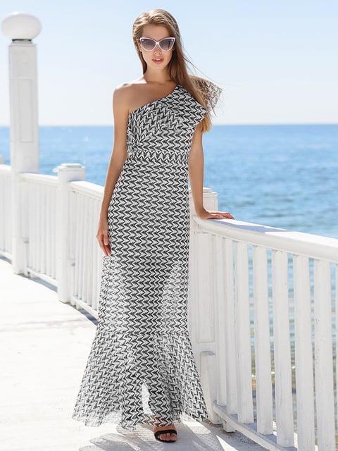 Платье черно-белое Gepur 4327371