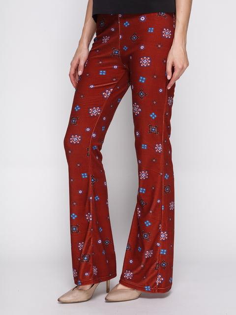Брюки красные в принт Zara 2750125
