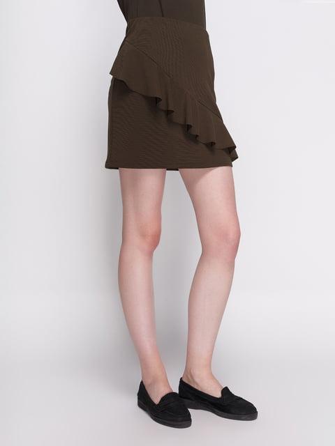 Спідниця кольору хакі Zara 3911863