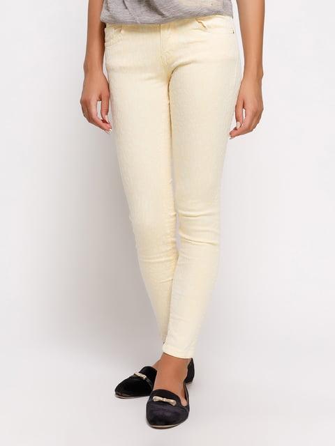 Брюки желтые Zara 4373732