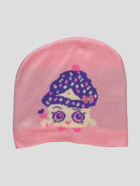 Шапка розовая с рисунком Babasik 4399632