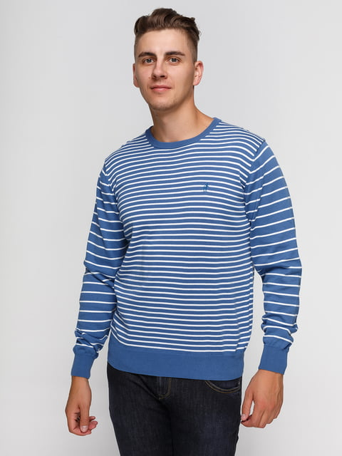 Джемпер блакитний у смужку Rodrigo 3067610
