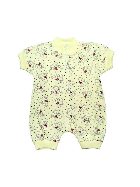 Песочник желтый с принтом Малыш 4466039