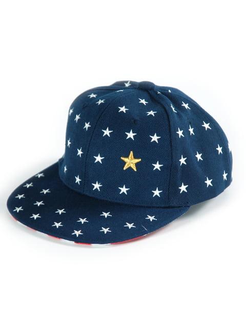 Бейсболка синяя в принт Traum 4391437