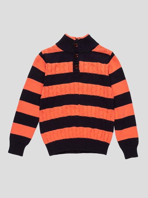 Джемпер оранжево-синий в полоску E.MANDA 4457110