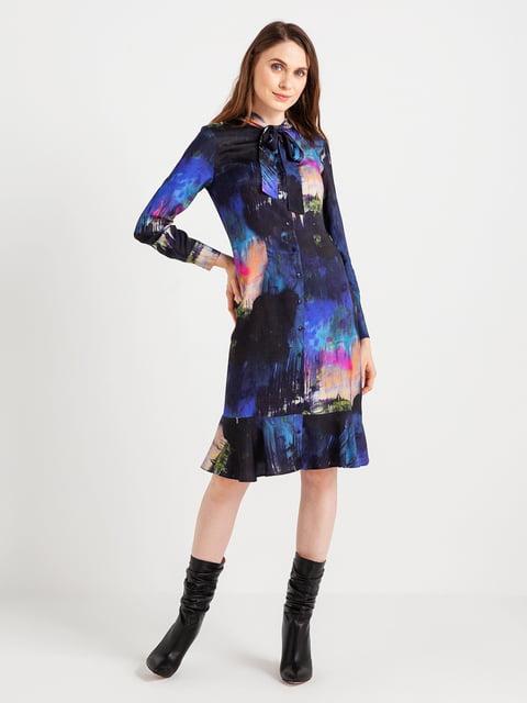 Сукня темно-синя в принт BGN 4472698