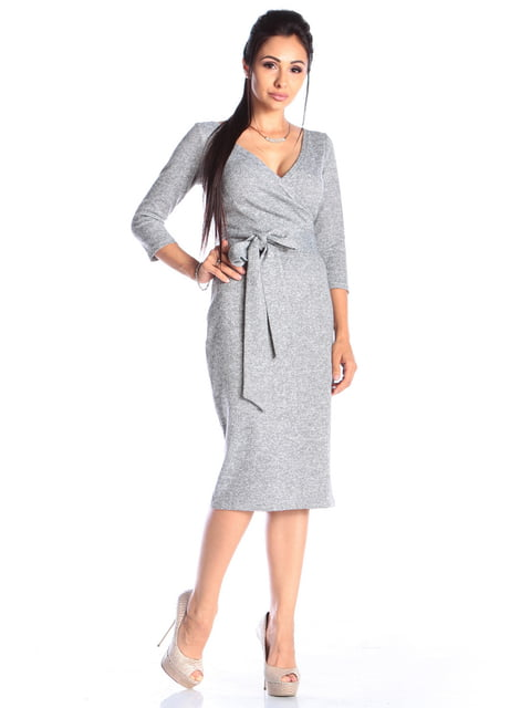 Платье серое Laura Bettini 4482536