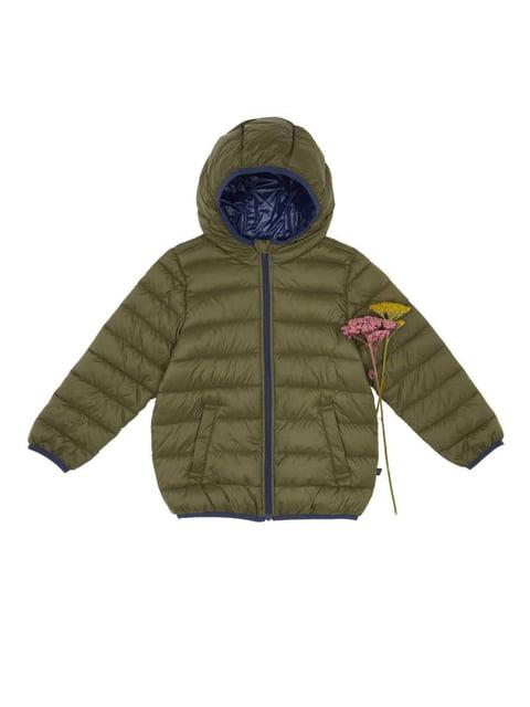 Куртка кольору хакі Benetton 4428090