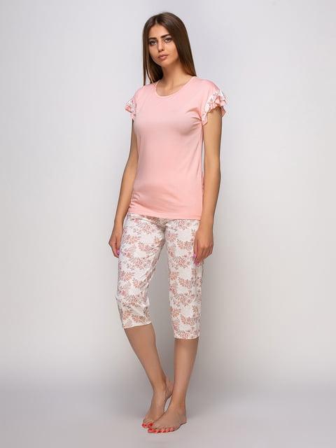 Пижама: футболка и бриджи Наталюкс 4480289