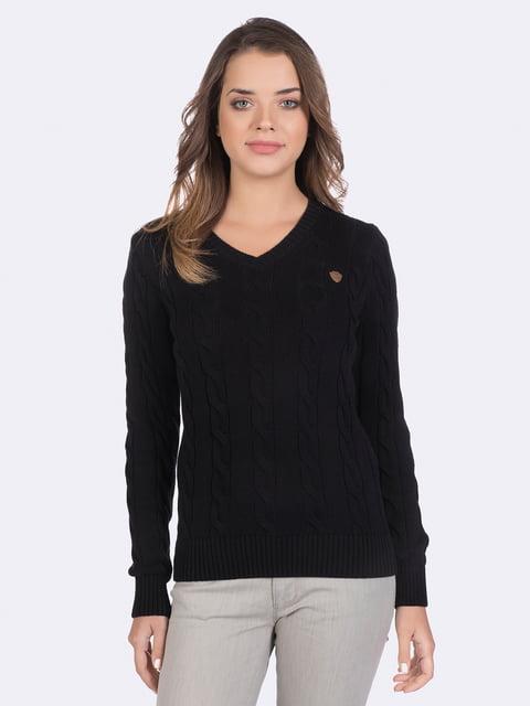 Пуловер черный Giorgio di Mare 4489277