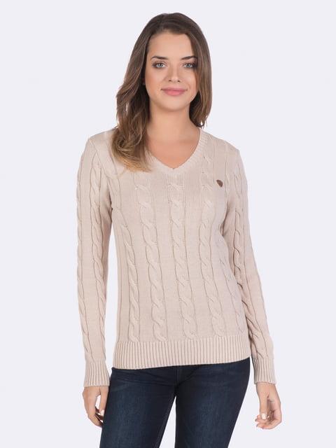 Пуловер бежевый Giorgio di Mare 4489280