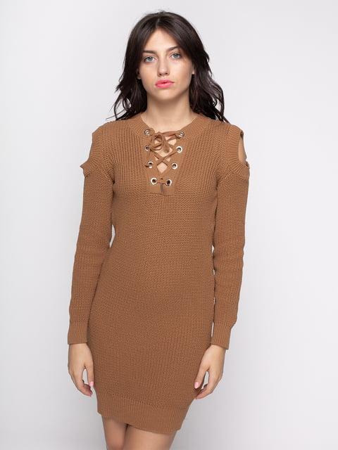 Платье коричневое Imperial 4480666
