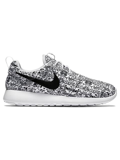 Кроссовки белые в принт Roshe One Nike 2584523