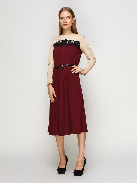 Сукня бежево-бордова RUTA-S 4492713