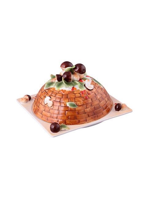Блюдо для млинців «Грибна поляна» з кришкою (25х25 см) LEFARD 4493513
