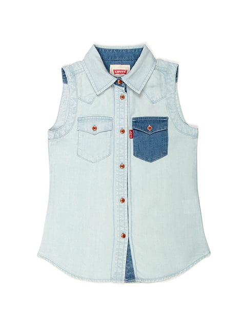 Сорочка блакитна джинсова Levi's 4499365