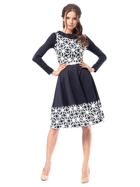 Платье темно-синее с принтом Lada Lucci 4518855