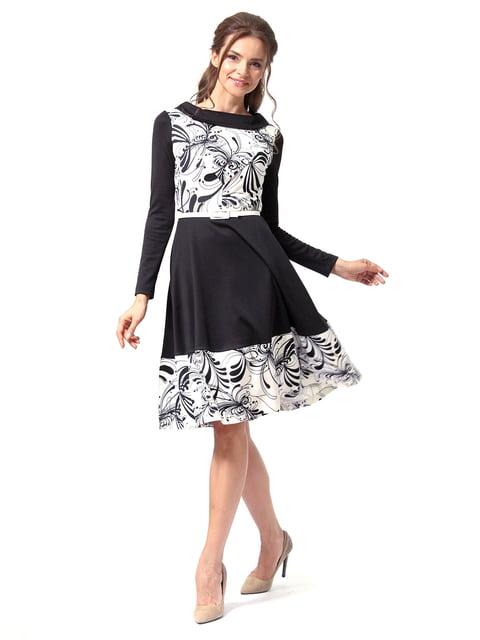 Платье черное с принтом Lada Lucci 4518856