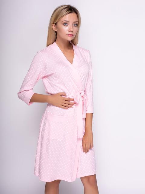 Халат розовый в горошек PERRITO 4509164