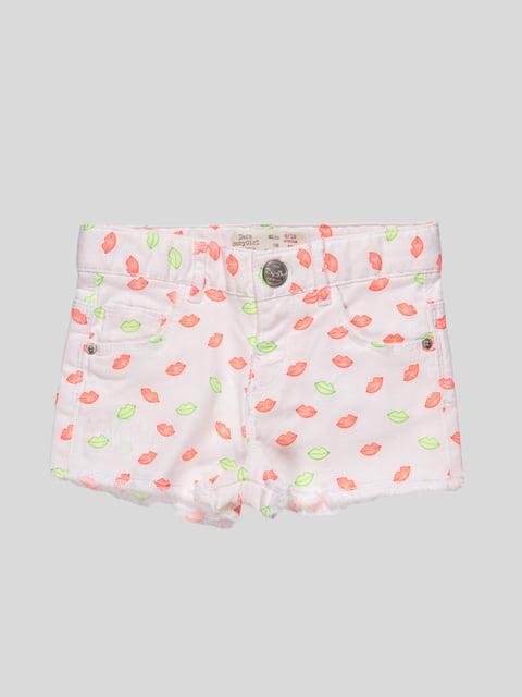 Шорти білі з принтом Zara Kids 2435545