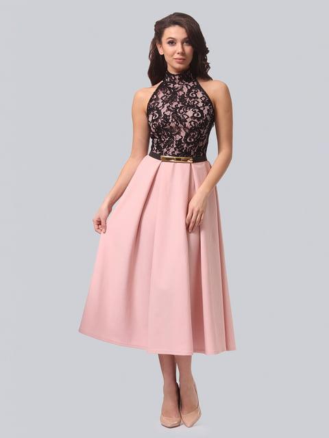 Платье черно-розовое LILA KASS 4529335