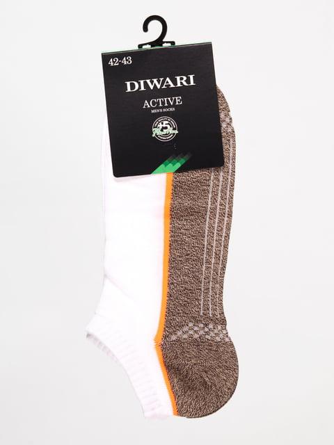 Шкарпетки біло-карамельного кольору Conte 4465627