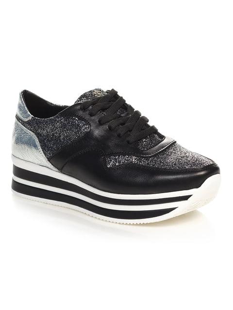 Кросівки чорно-сріблясті NUBE 4527685