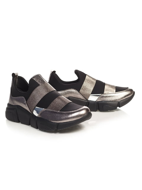 Кросівки сріблясто-чорні NUBE 4527689