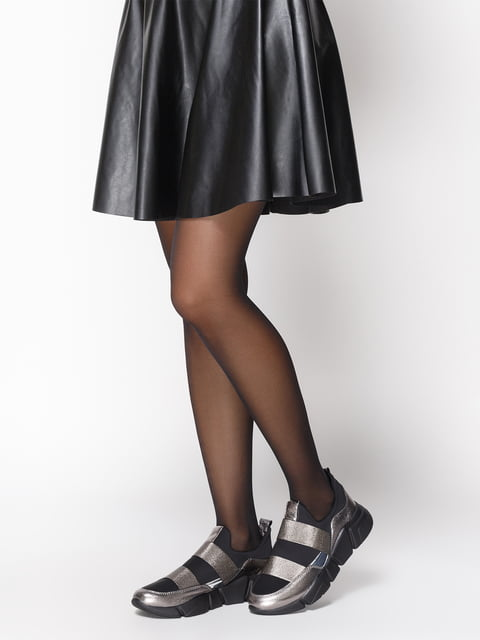 Кроссовки серебристо-черные NUBE 4527689