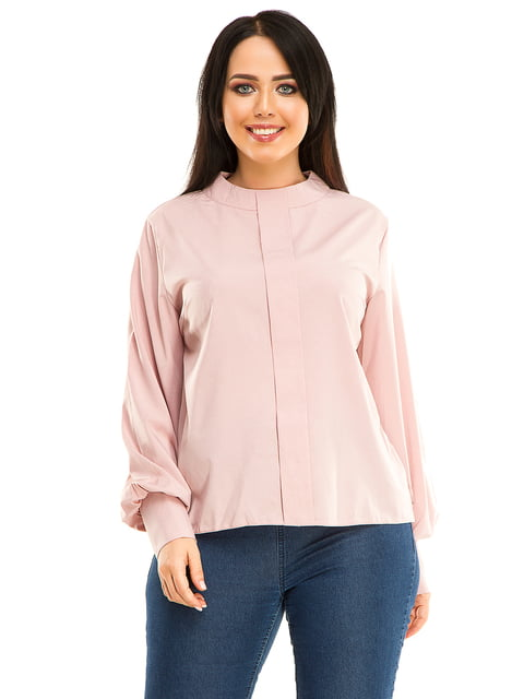 Блуза кольору пудри Exclusive. 4534865