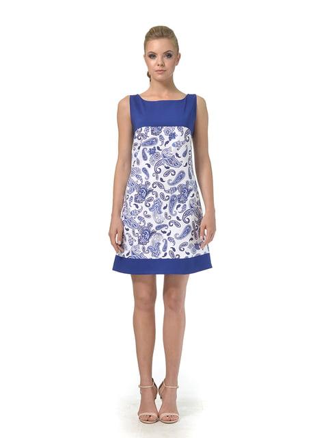 Платье сине-белое с принтом AGATA WEBERS 4527033