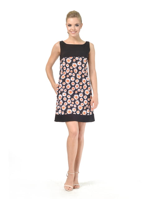 Платье черное в цветочный принт AGATA WEBERS 4527036