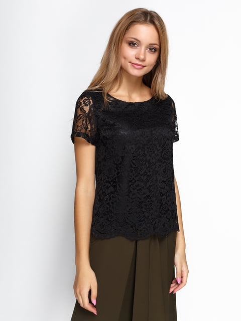 Блуза черная Zubrytskaya 4534738