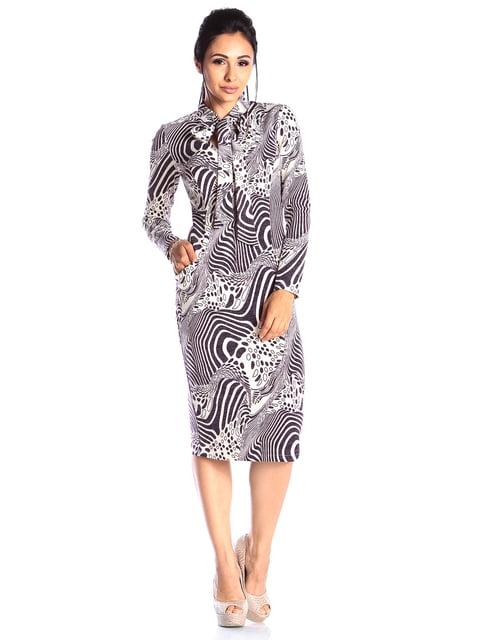 Платье в принт Laura Bettini 4538805