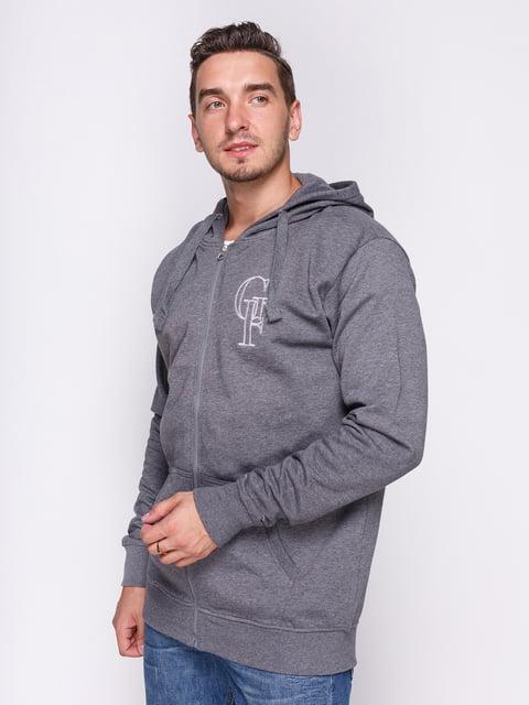 Толстовка сіра з аплікацією Gianfranco Ferrè Beachwear 2349337
