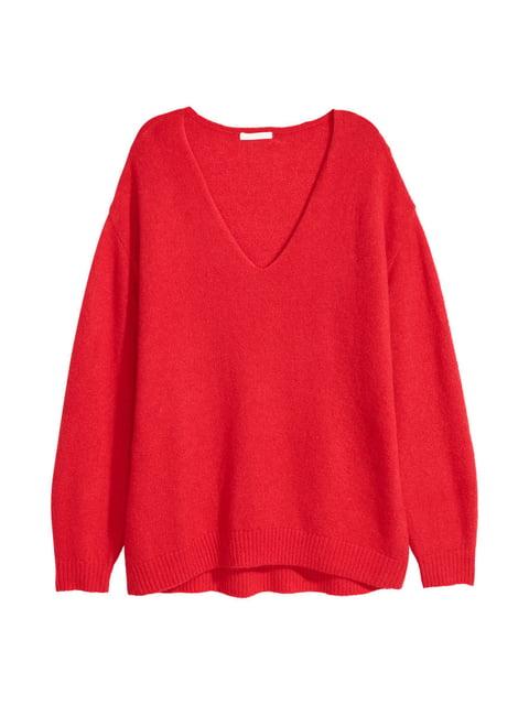 Пуловер красный H&M 4544133