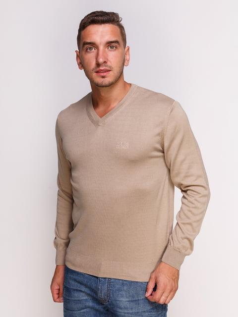 Пуловер светло-коричневый HUGO BOSS 4532495