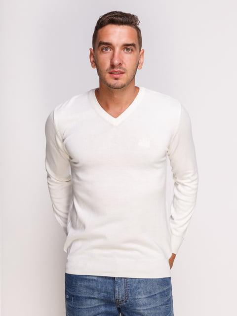 Пуловер белый HUGO BOSS 4532490