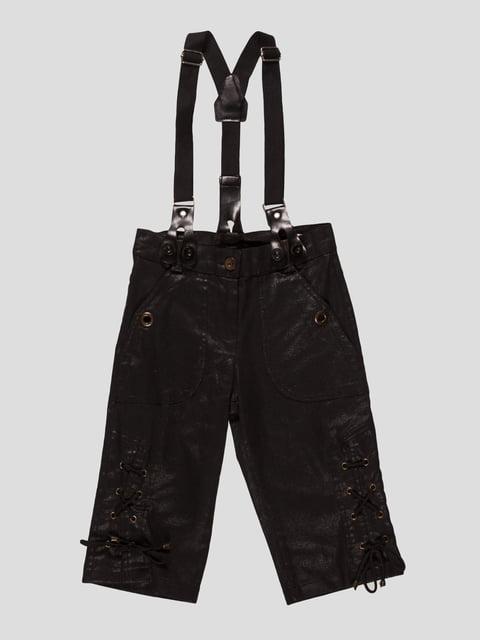 Капри черные с подтяжками Vivien 4541298