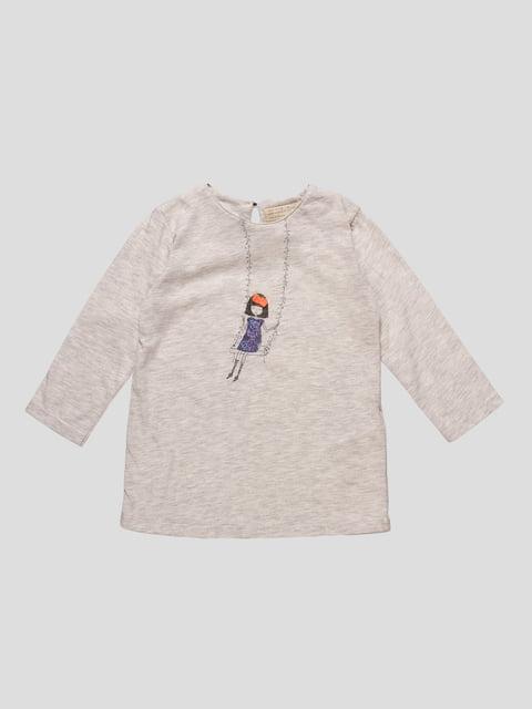 Лонгслів сіро-бежевий Zara Kids 4508029