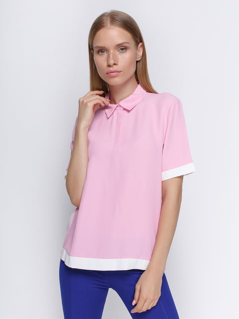 Футболка-поло розовая Zara 4506985
